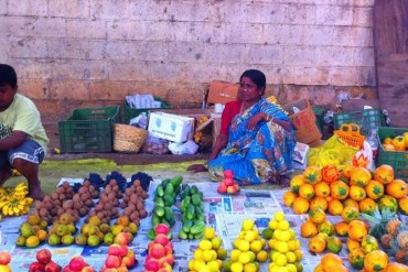 A fruit vendor in Bangalore